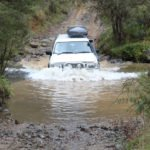 4WD on flooded section of 4x4 track