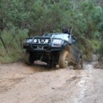 4WD vehicle on extremely rough 4x4 track