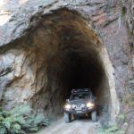 4WD track through cave tunnel