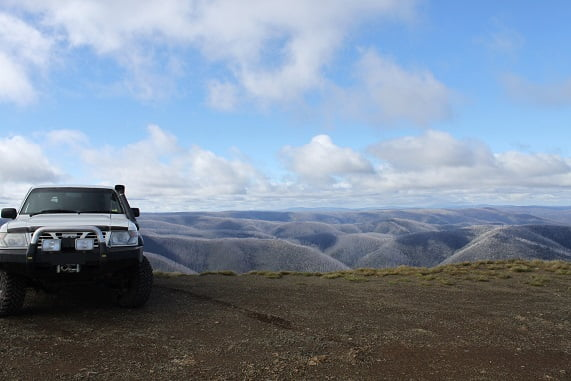Beautiful view of Australian landscape from 4WD track