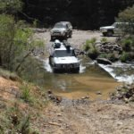 4x4 vehicles on flooded 4WD tracks