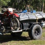 Camper Trailer with Custom Dirt Bike Rack