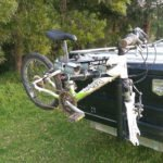 Camper Trailer with Custom Bike Rack